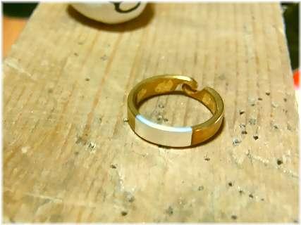 真鍮指輪の作り方